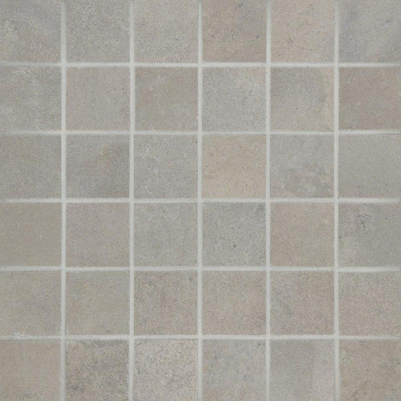 Fusion Cemento 2x2, Smooth, Square, Color-Body-Porcelain, Mosaic
