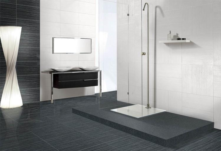 Horizon Black Semi Polished, Unglazed 12x24 Porcelain  Tile