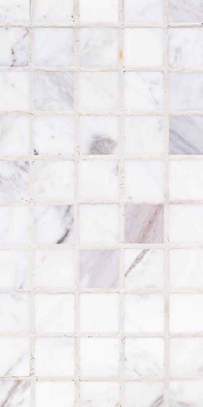 Sto Re Volakas 1-1/8x1-1/8 Square Polished Natural Stone  Mosaic