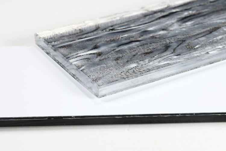 Shell Aura Silver Subway Glossy Glass  Mosaic