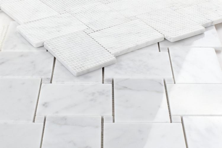 Precious Stone Carrara Bianco House Windmill Polished Marble  Mosaic