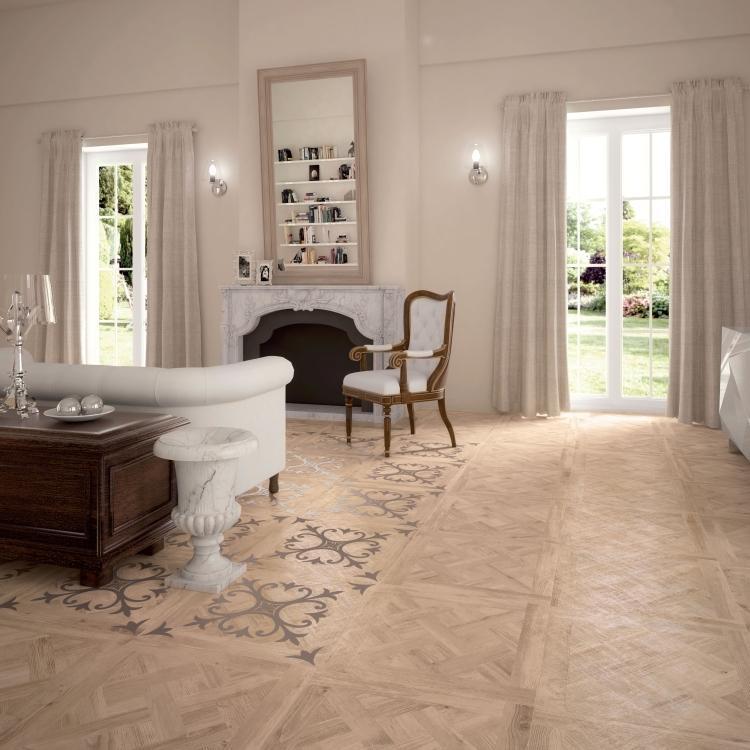 Larix Tarsie Sabbia Semi Polished, Glazed 24x24 Porcelain  Tile