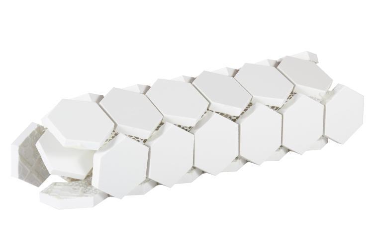 Elysium Tiles - White Tile Super 2x2 Hexagon Polished Porcelain  Mosaic