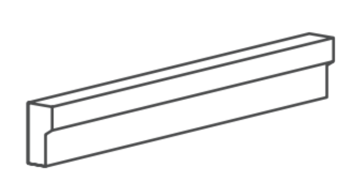 Basalt Grey Trim 2x12 Honed    Modern Chairrail