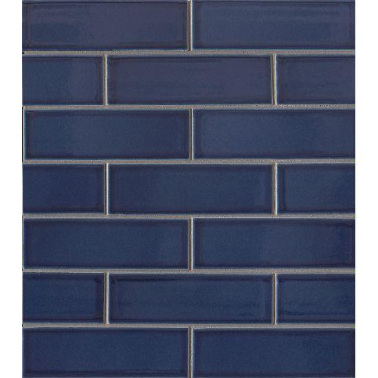 Zenia Tide 2x6  Glossy Porcelain  Mosaic