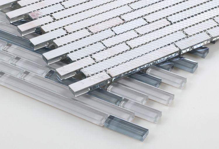 Linear Glass Grey Label Glossy   Mosaic