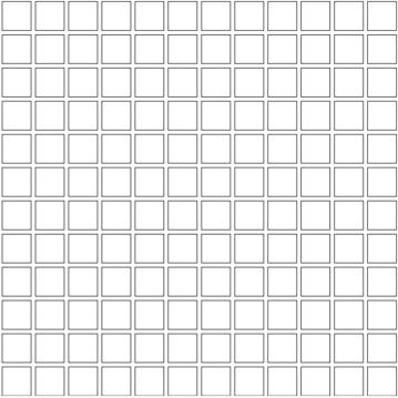 Unicom Icon Jet Black 1x1, Concrete, Natural, Dark Brown, Square, Porcelain, Mosaic