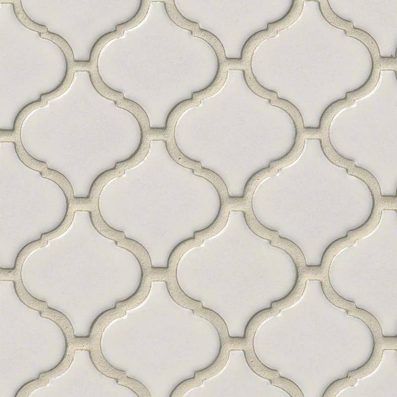 Backsplash Wall Tile Decorative Mosaics Bianco Glossy, White, Arabesque, Porcelain, Mosaic