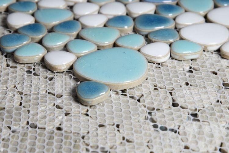 Growing Jewel Iris Pebble  Porcelain  Mosaic