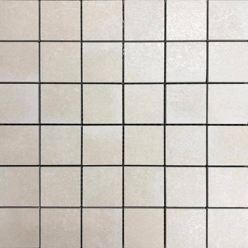 Shine Sand Beige 2x2 Square Matte Porcelain  Mosaic