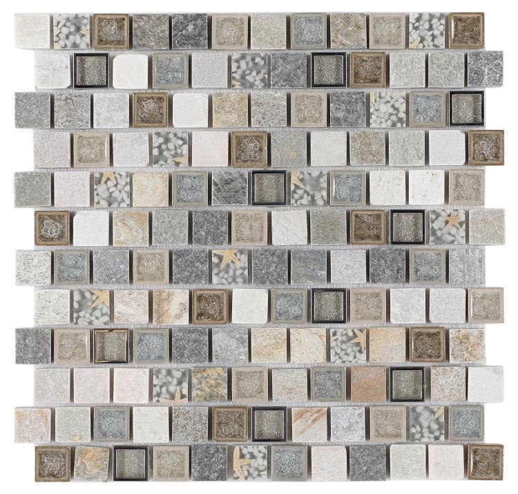 Milano Selene Beach 1x1 Square  Glass  Mosaic
