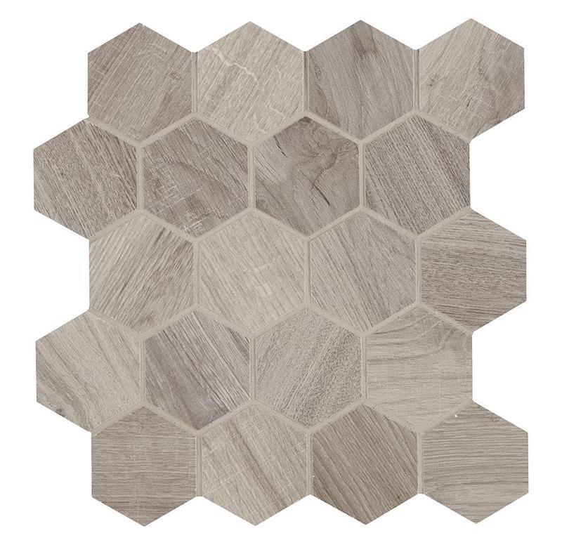 Aequa Cirrus 2.5 in, Standard, Hexagon, Color-Body-Porcelain, Mosaic