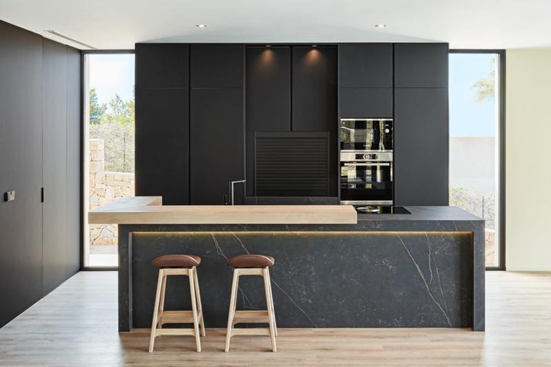Group 2 Natural Tiles Kelya Standard Size 56x56, Smooth-Matte, Black, Square, Porcelain, Tile