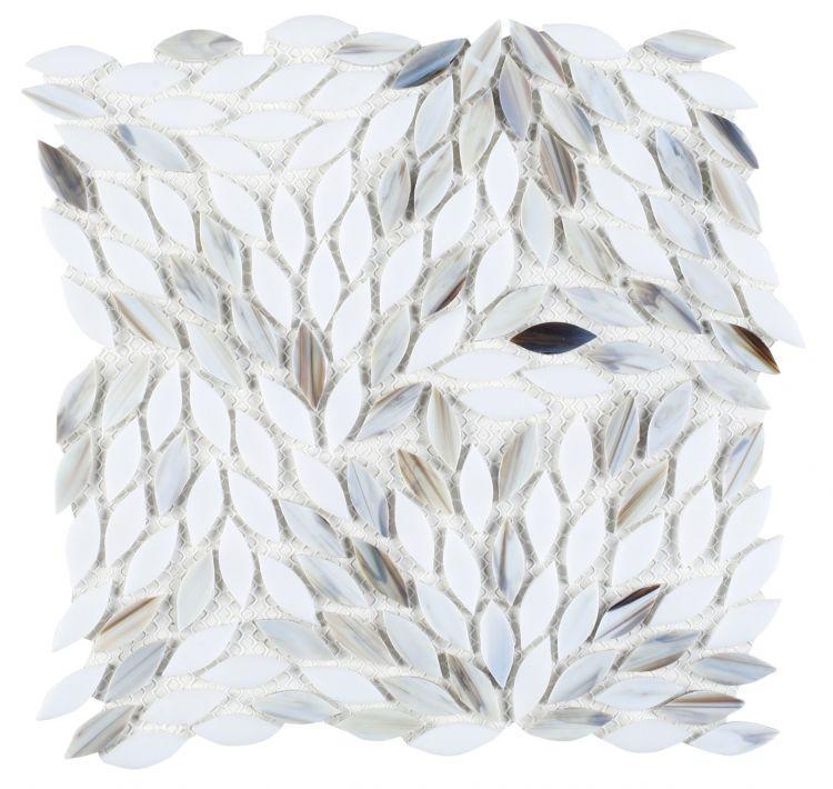 Newport Dawn Leaf  Glass  Mosaic