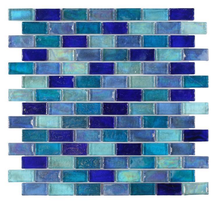 Malibu Sky Brick  Glass  Mosaic