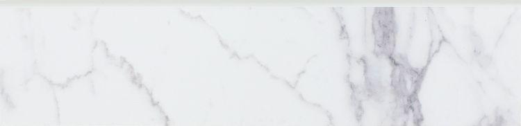 Carrara Premium Glazed, Matte 3x12 Porcelain Bullnose