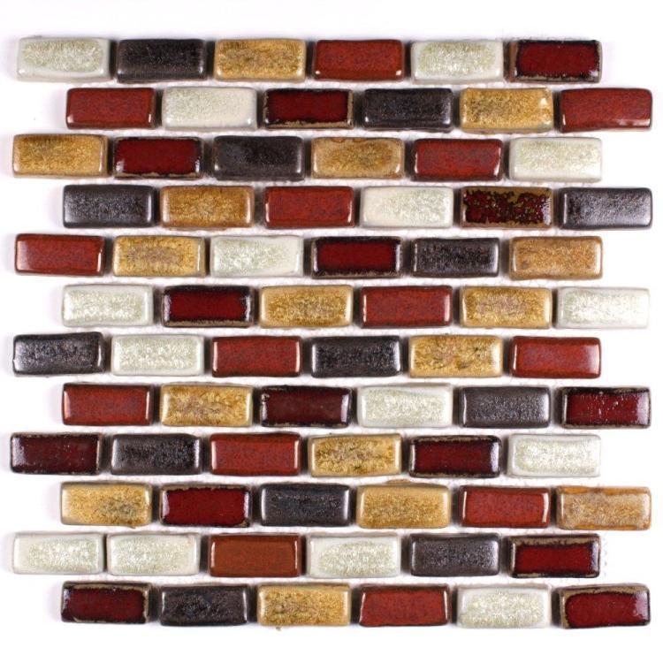 Roman Autumn Brick, Stack  Porcelain  Mosaic