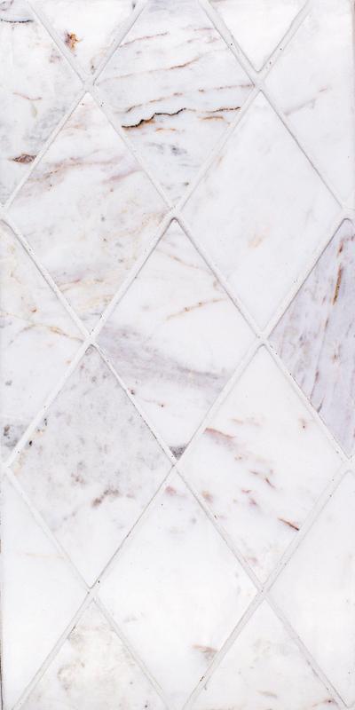 Sto Re Volakas 2-3/4x4 Rhomboid Polished Natural Stone  Mosaic