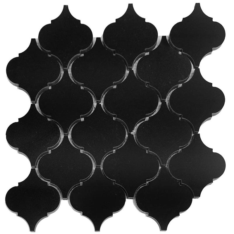 Granite Absolute Black 2 in Lanterna Polished   Mosaic (Discontinued)