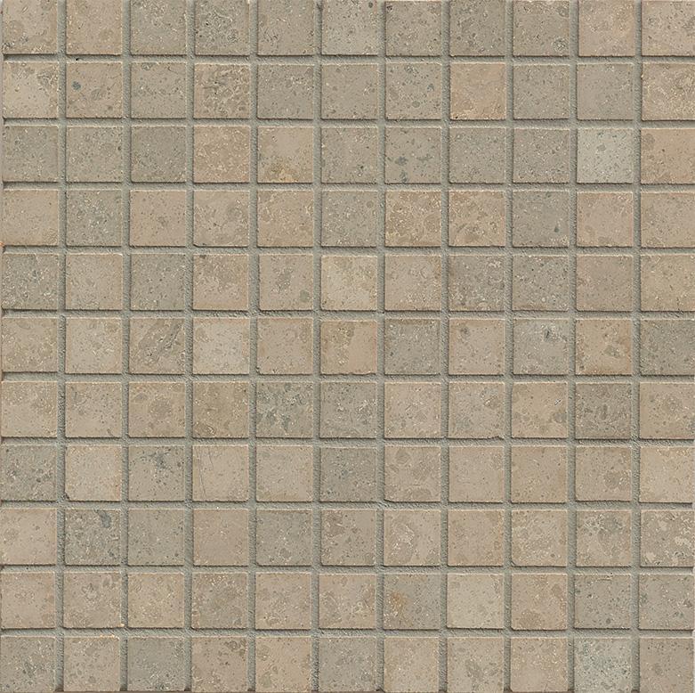 Limestone Jura Grey 1x1 Square Honed   Mosaic (Discontinued)
