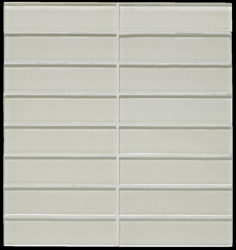 Dunes Ivory 1.5x6 Straight Stacked Glass   Mosaic