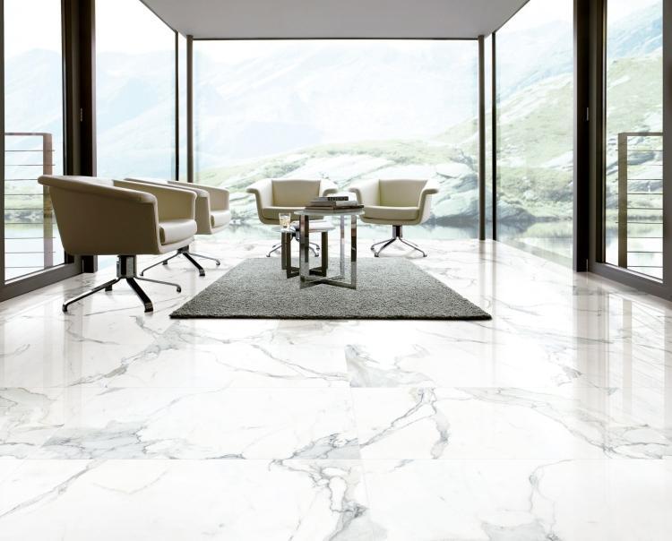 Calacatta Dorado Polished, Glazed 12x24 Porcelain  Tile