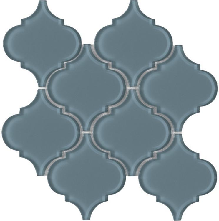 Arabesque Blue Shining Glass  Mosaic