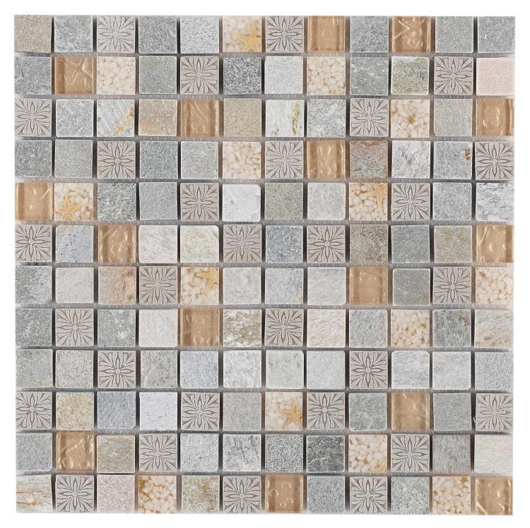 Diamond Selene Spring 1x1 Square  Glass  Mosaic
