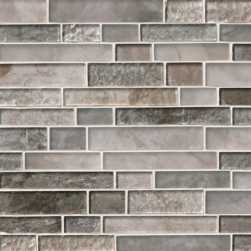 Backsplash Wall Tile Decorative Mosaics Savoy Mix, Brown, Interlocking, Glass, Mosaic