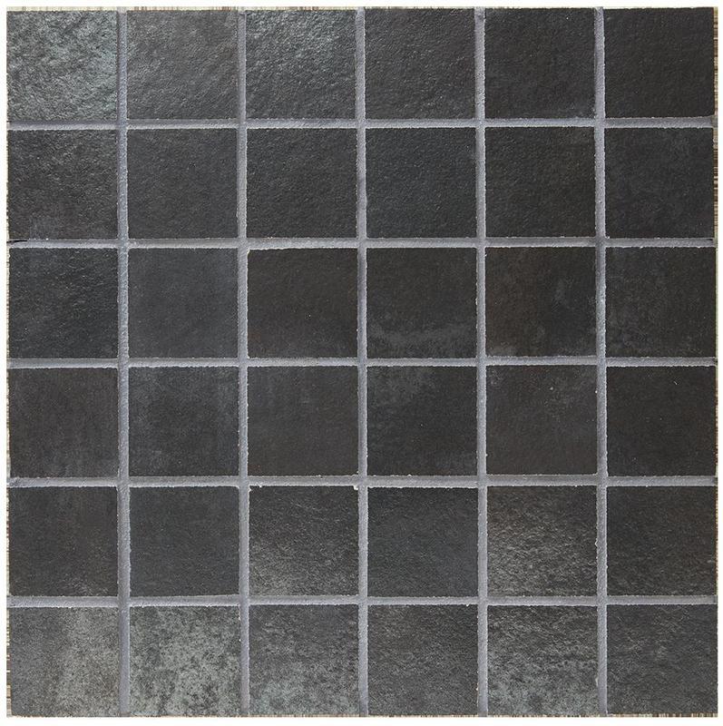 Stage Metal Blue 2x2, Glazed, Square, Color-Body-Porcelain, Mosaic