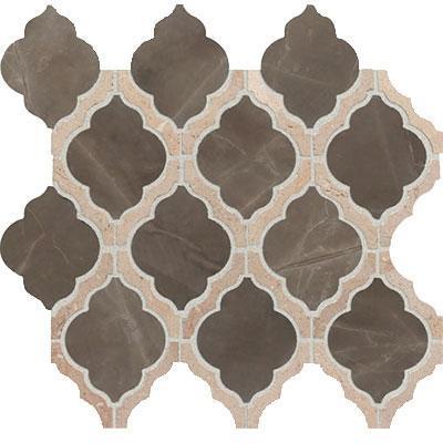 Candora Sincere Brown Blend Polished, Mini, Natural-Stone, Mosaic