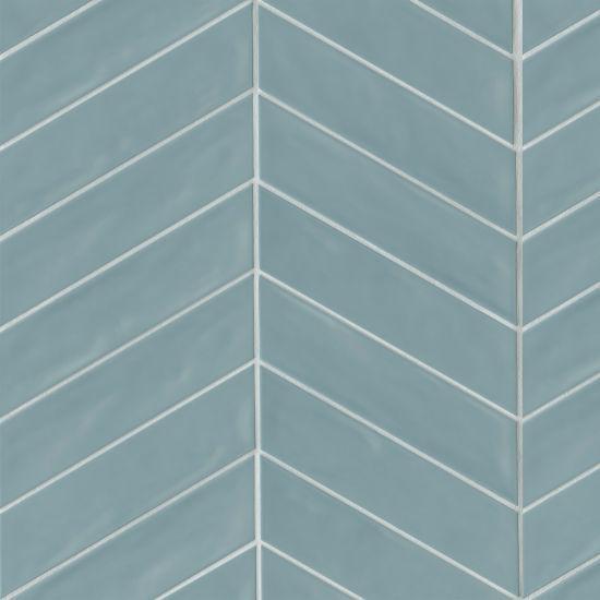 Sorrento Celeste Left Glossy 2.5x10 Ceramic  Tile