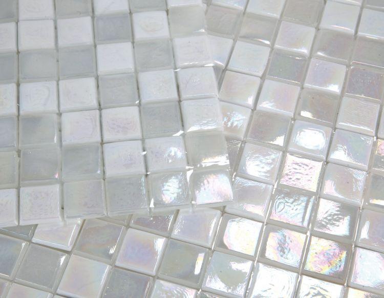 Laguna Snow Square Glass  Mosaic