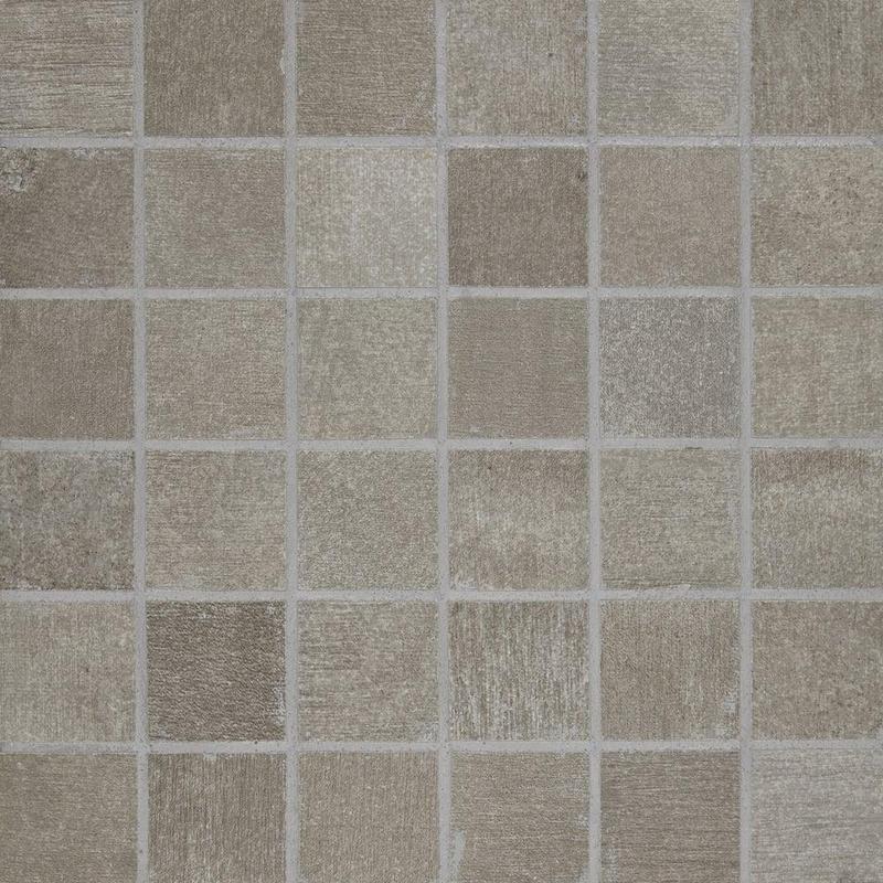 Reside Ash 2x2, Matte, Square, Color-Body-Porcelain, Mosaic
