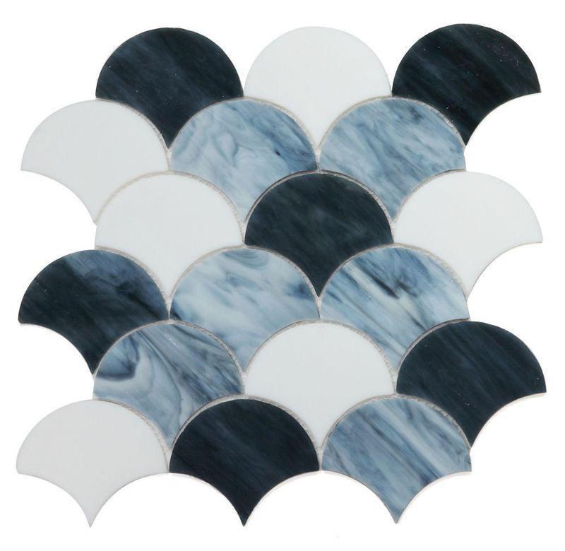 Newport Grey Scale  Glass  Mosaic
