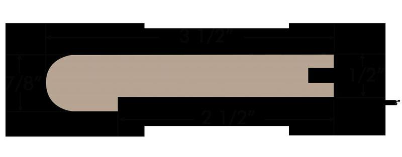 Savoy 3.5xfree length, Uv-Cured, Oak, Hardwood, Trim