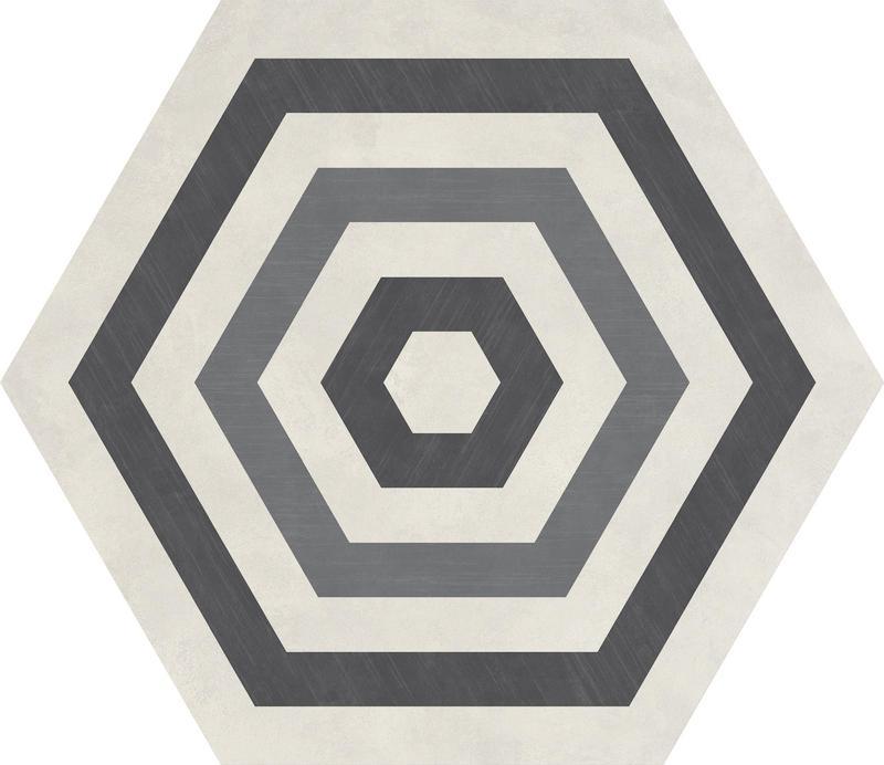 Bee Hive Target Cool Blend 20x24, Unpolished, Gray, Hexagon, Color-Body-Porcelain, Tile