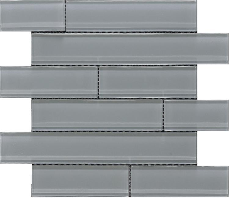 Casale Grey Frosted Subway  Glass  Mosaic
