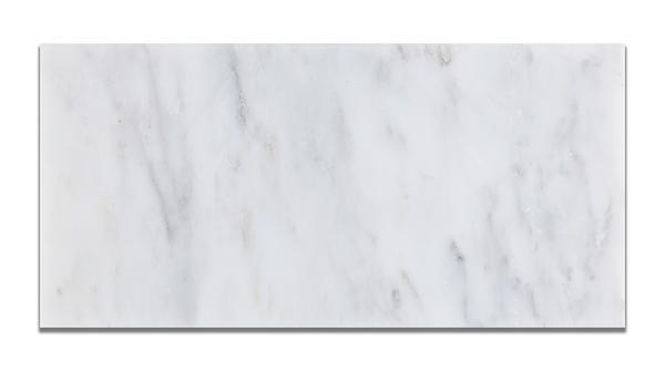 Oriental White Marble Tile 3x6 Honed Beveled