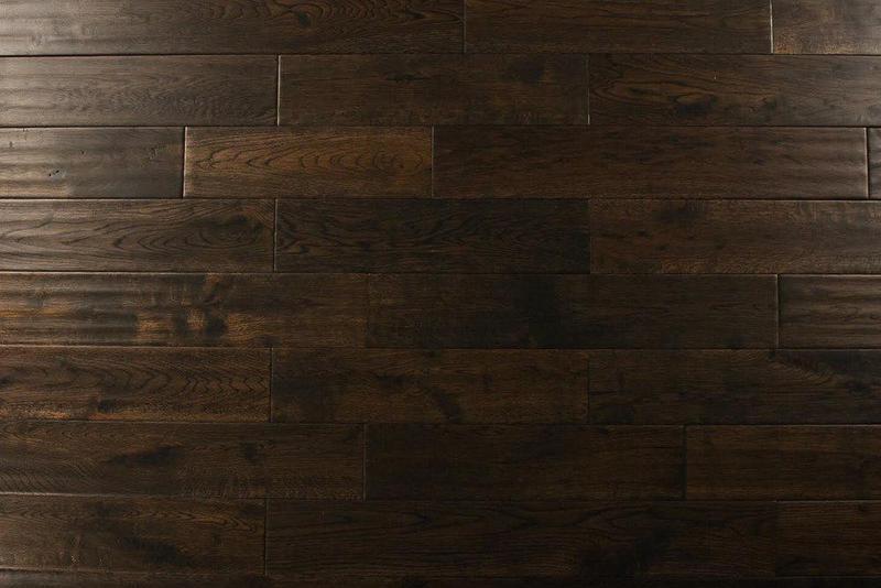 Oak Blackmoon 4.75xfree length, Hand-Scraped, Brown, Solid-Hardwood, Wood
