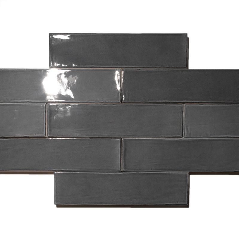 Piemme Maiolica Charcoal Natural 3x12 Ceramic  Tile