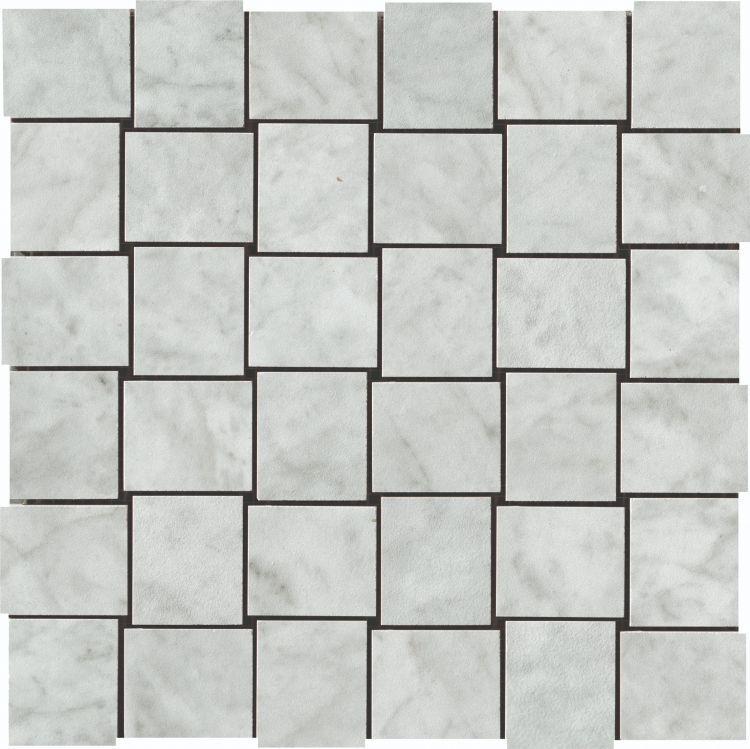 Selezione Marmi Carrara Weave Polished, Glazed Porcelain  Mosaic