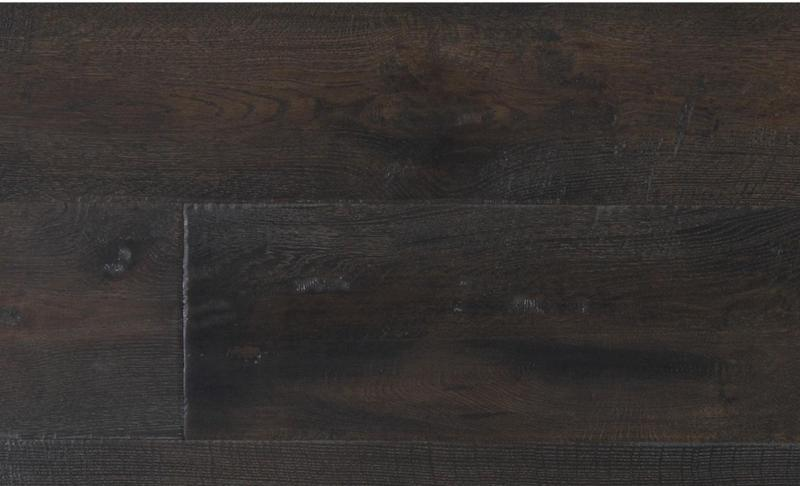 Capistrano Oak Collection Almond 9.5xfree length, Wire-Brushed, Dark Grey, Engineered-Wood
