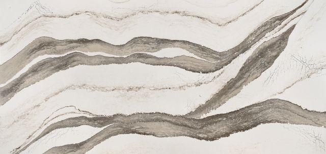 Luxury Skara Brae 65.5x132, 2 cm, Polished, Taupe, White, Quartz, Slab