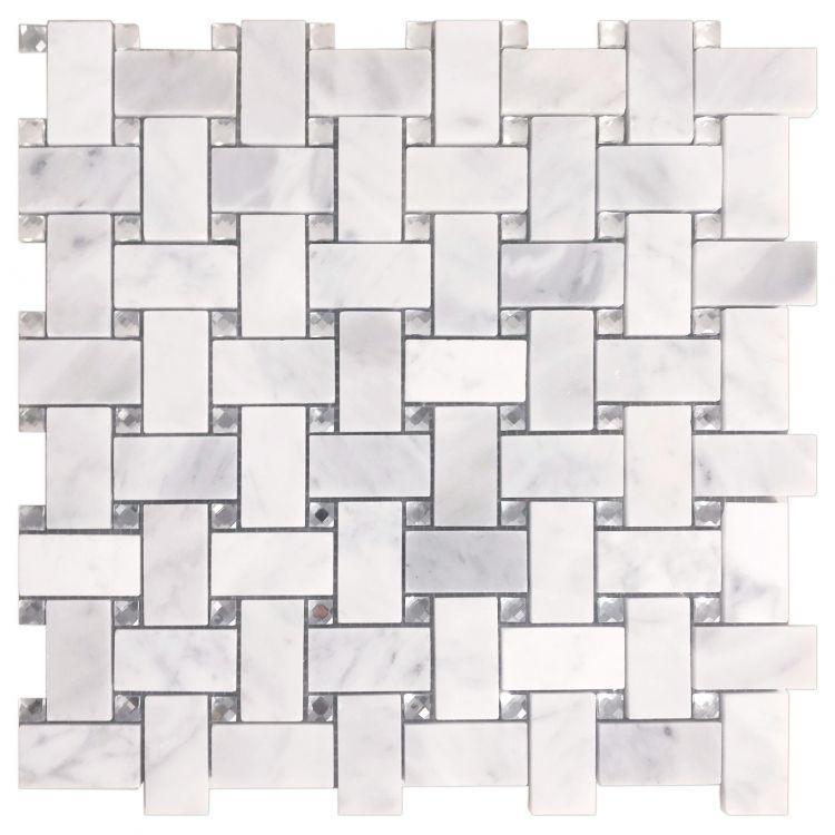 Precious Stone Cross Crystal Carrara Windmill  Glass  Mosaic