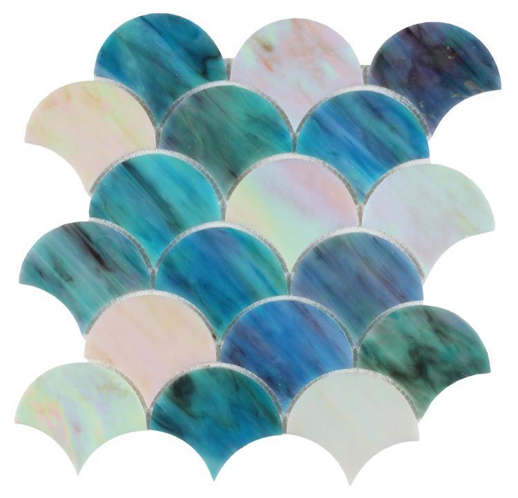 Newport Sky Scale  Glass  Mosaic