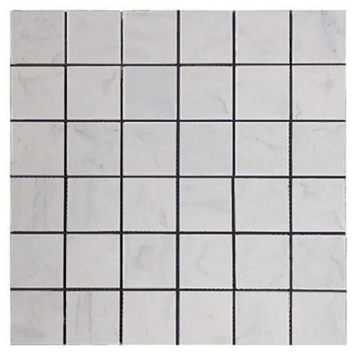Marble Mosaics Carrara White 2x2 Square Honed   Mosaic