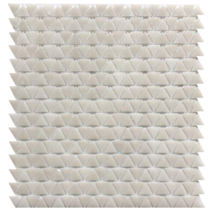 Neutra 6.0 01.bianco Triangle  Glass  Mosaic