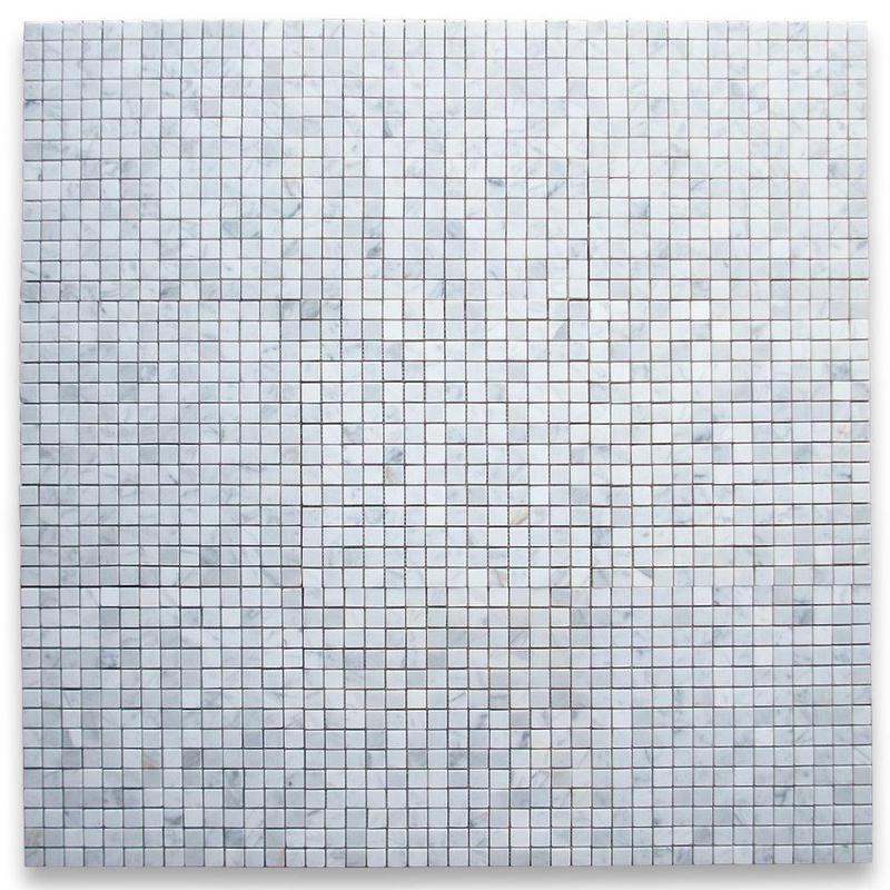 Marble White Carrara 0.75x0.75 Square Honed   Mosaic