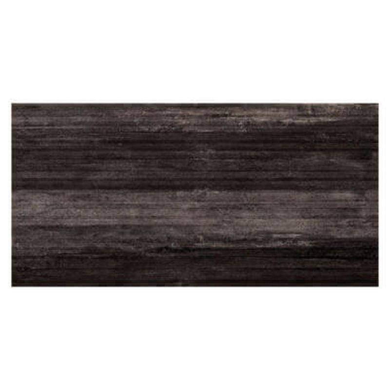 Ecocrete Weather Black Rigato 18x36 Porcelain  Tile (Discontinued)
